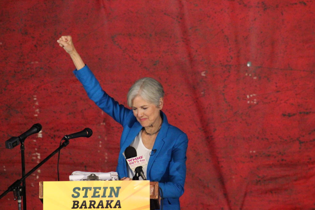 Green Party's Jill Stein campaigns in Los Angeles