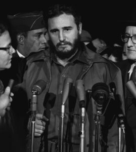 Fidel Castro arrives MATS Terminal, Washington, D.C. in 1959  (Library of Congress Prints and Photographs Division Washington, D.C.)