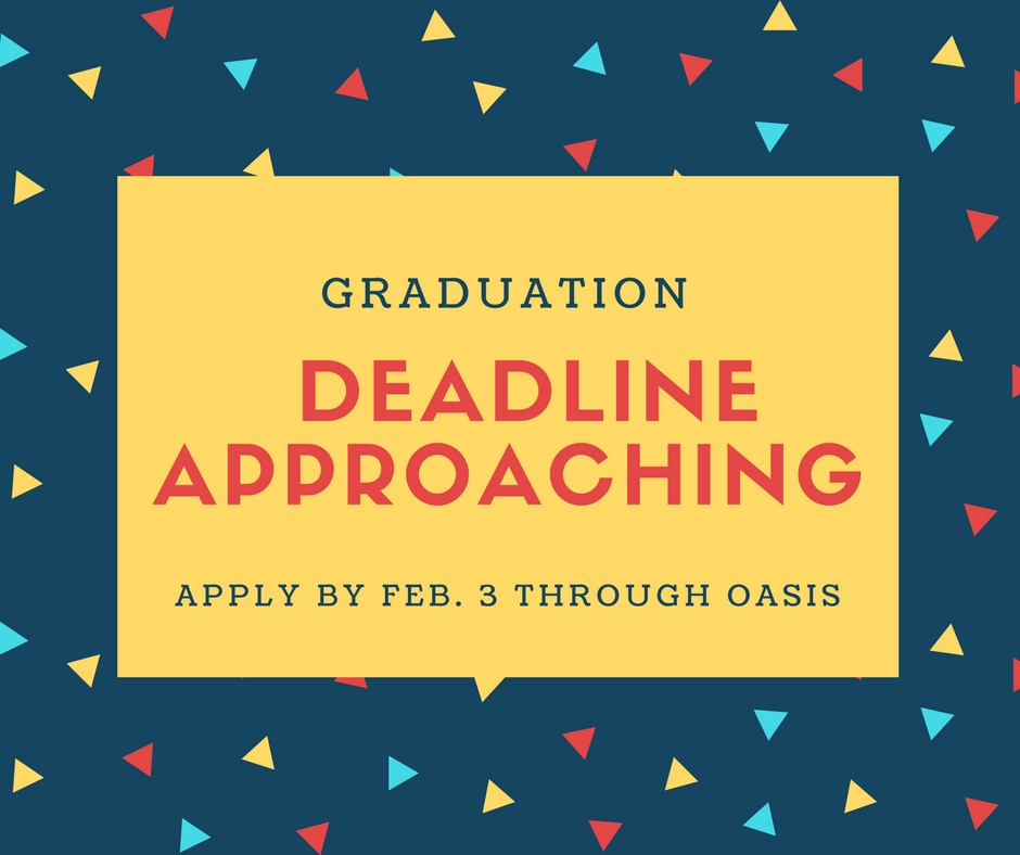 Spring graduation deadline approaching fast, sign up now