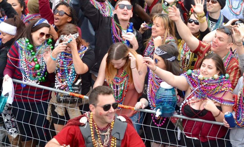 Pirate Party: Parade attendees enjoy themselves at Gasparilla on Saturday. Courtesy of Angelina Bruno