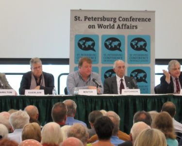 World Affairs: The St. Petersburg Conference on World Affairs was co-founded in 2013 by Dr. Thomas Smith and Ambassador Douglas L. McElhaney. Last year the conference brought in around 2,000 people over three days. ABIGAIL PAYNE | THE CROW'S NEST