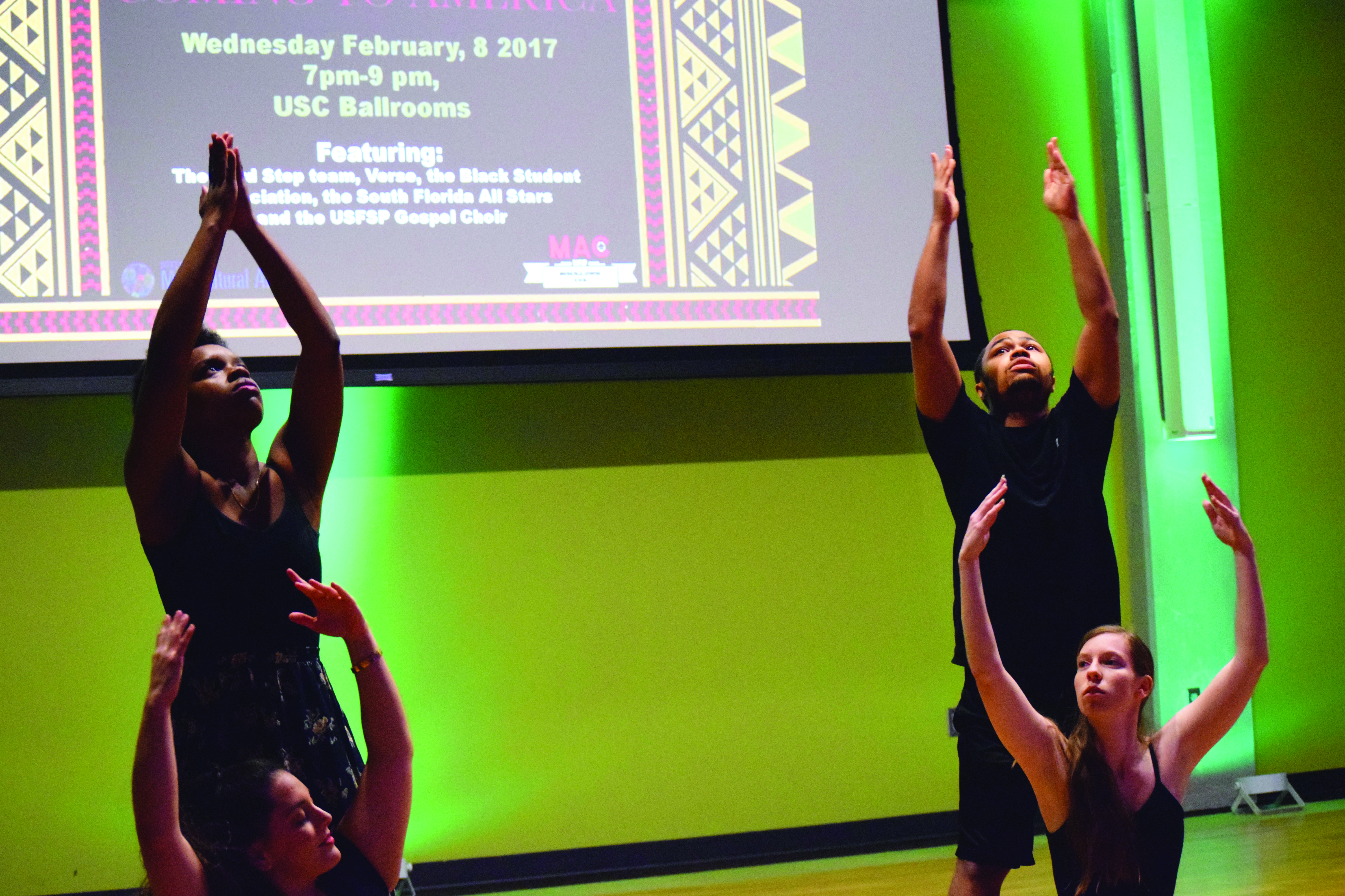 Students perform in honor of Black History Month