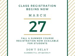 Registration Summer-Fall 17