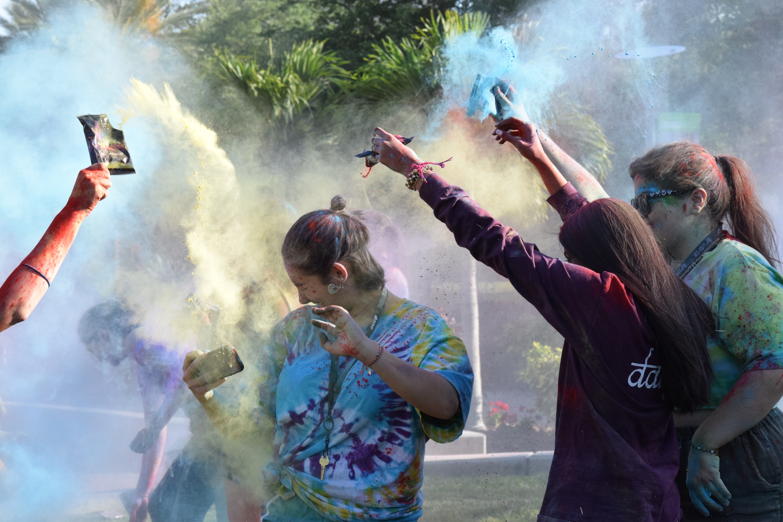 Bursts of color to celebrate Holi Hai spring festival