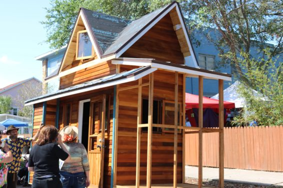 Small Livin': The St. Pete Eco-Village hosted the first Tiny Home Festival on April 1. Crowds flocked to see small-scale living on display. Whitney Elfstrom | The Crow's Nest