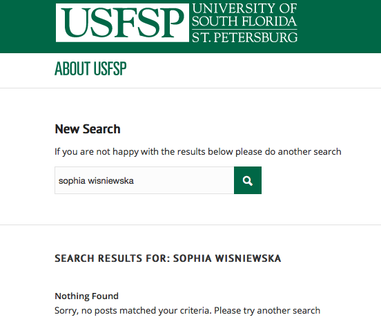 Gone, erased and no more; Wisniewska cut from website