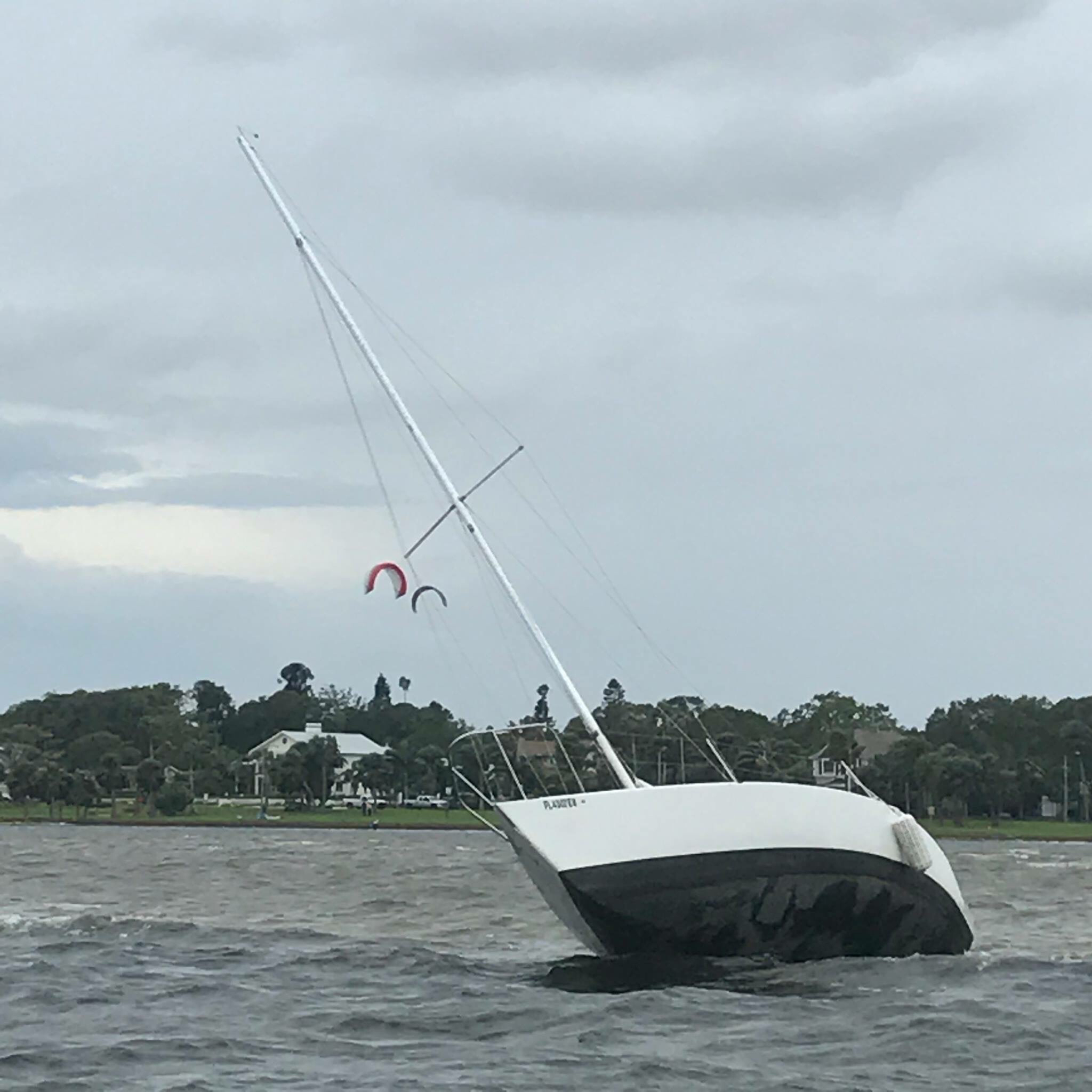Waterfront staff rescue stranded sailboat