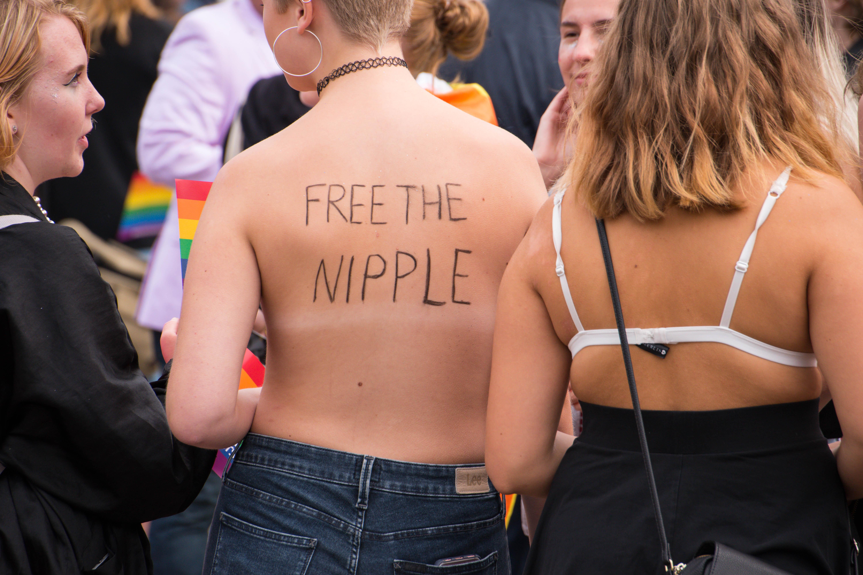 Tits fuck lesbian pussy